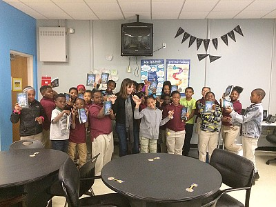 Amy and the amazing kids at Orr Elementary