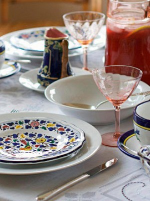 Designer Place Settings with Basic White China